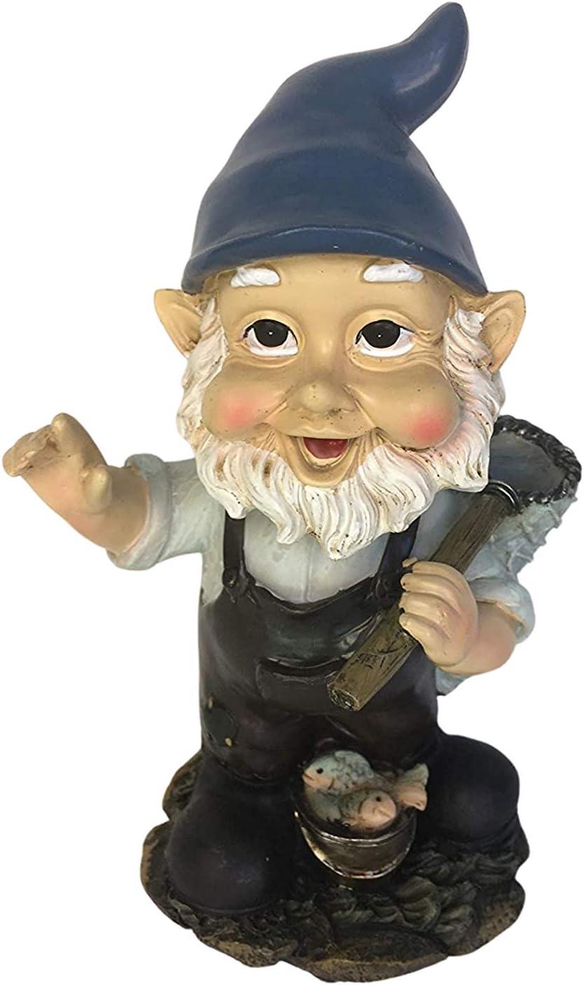 Fisherman Garden Gnome Statue Bobble Head