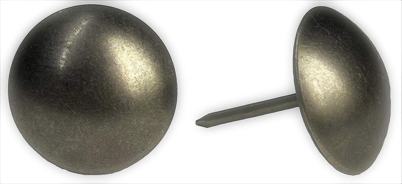 ComfortStyle Premium Upholstery Tacks, 3/4-inch Diameter Nailhead Pins, Large Decorative Trim for Furniture (80, Black Nickel)