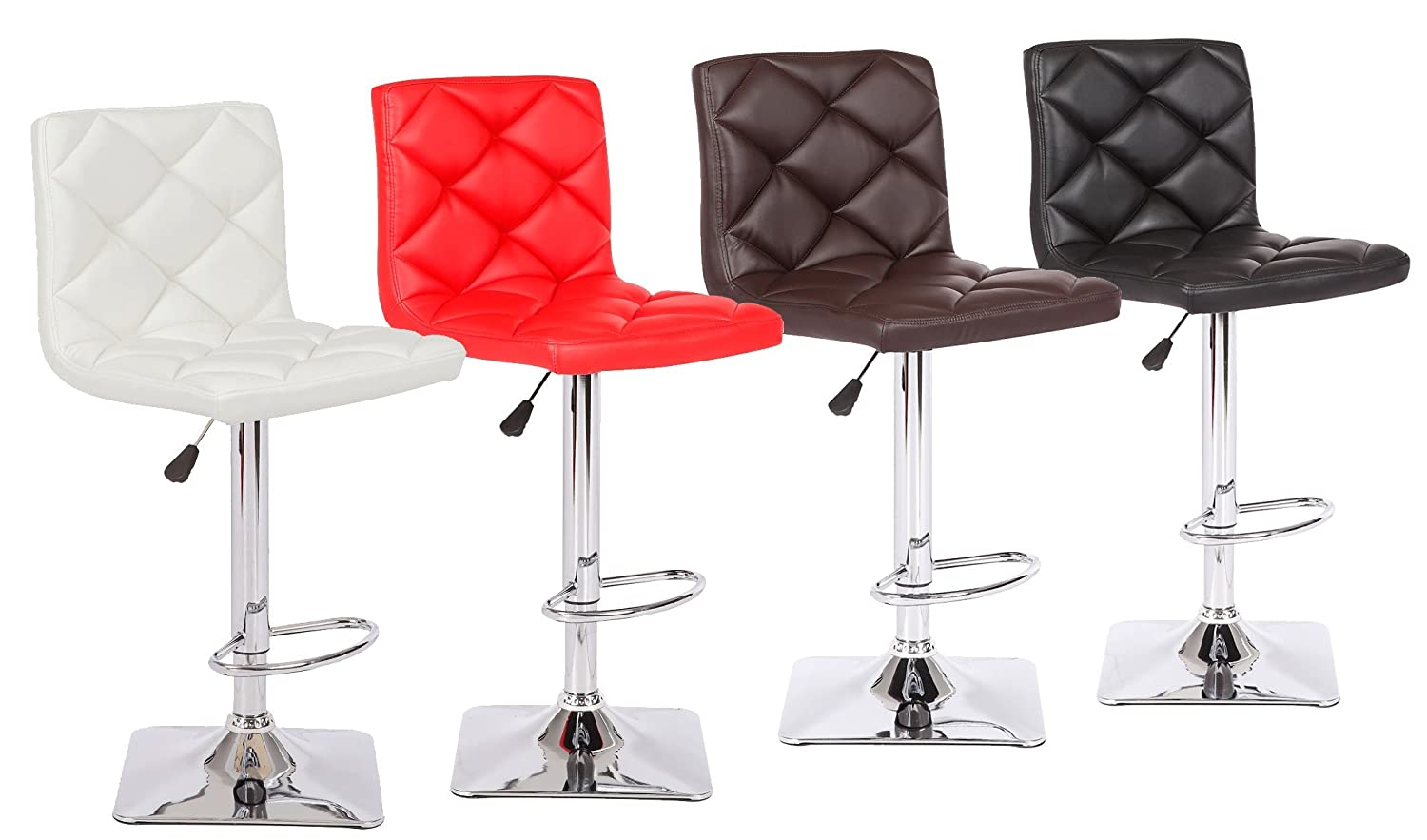 US Pride Furniture Rio Adjustable Swivel Bar Stool, Chocolate