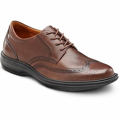 Dr. Comfort Wing Men's Therapeutic Diabetic Extra Depth Dress Shoe (13 X-Wide, Chestnut) | Oxfords
