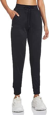 Under Armour Women's Tech Pants, Black/Metallic Silver