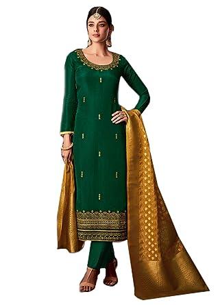 af1bf3f5cd BKRKJ Women's Pure Uppada Silk Fabric Unstitched Dress Material | Bridal  Wedding Wear Exclusive Heavy Hand