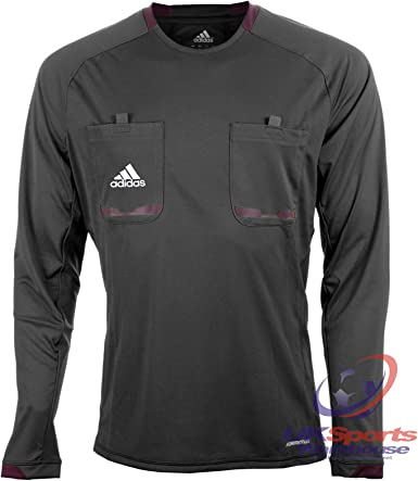 Adidas Hombre Manga Larga Climacool Formotion árbitro Camisetas Jersey Negro/Gris/Amarillo/Azul