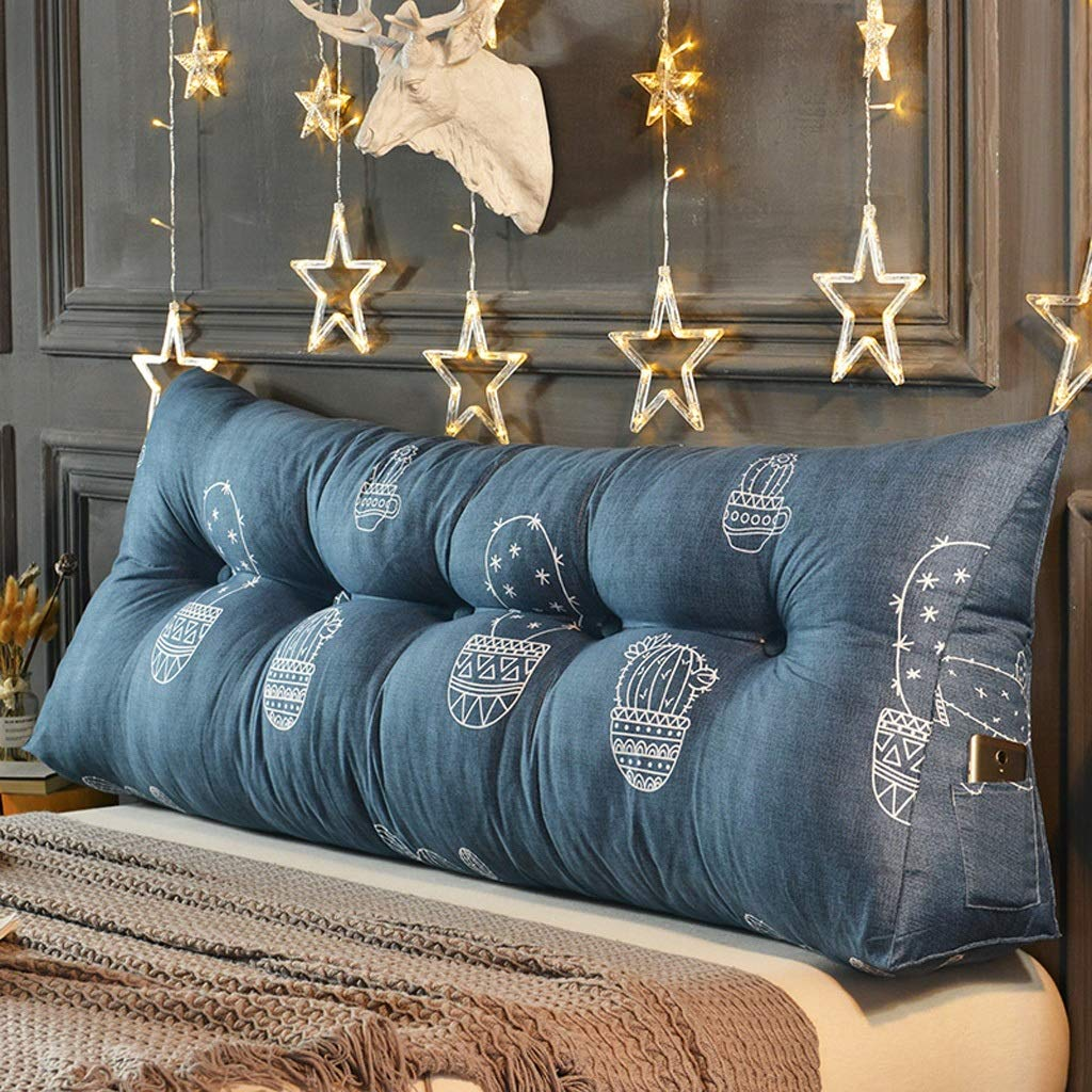 ベッドサイドクッション、大型背もたれ、マルチスタイル、オプションのベッド枕、腰椎枕、腰枕 JSSFQK (Color : C, Size : 200cm) B07SMZ95N8 C 200cm