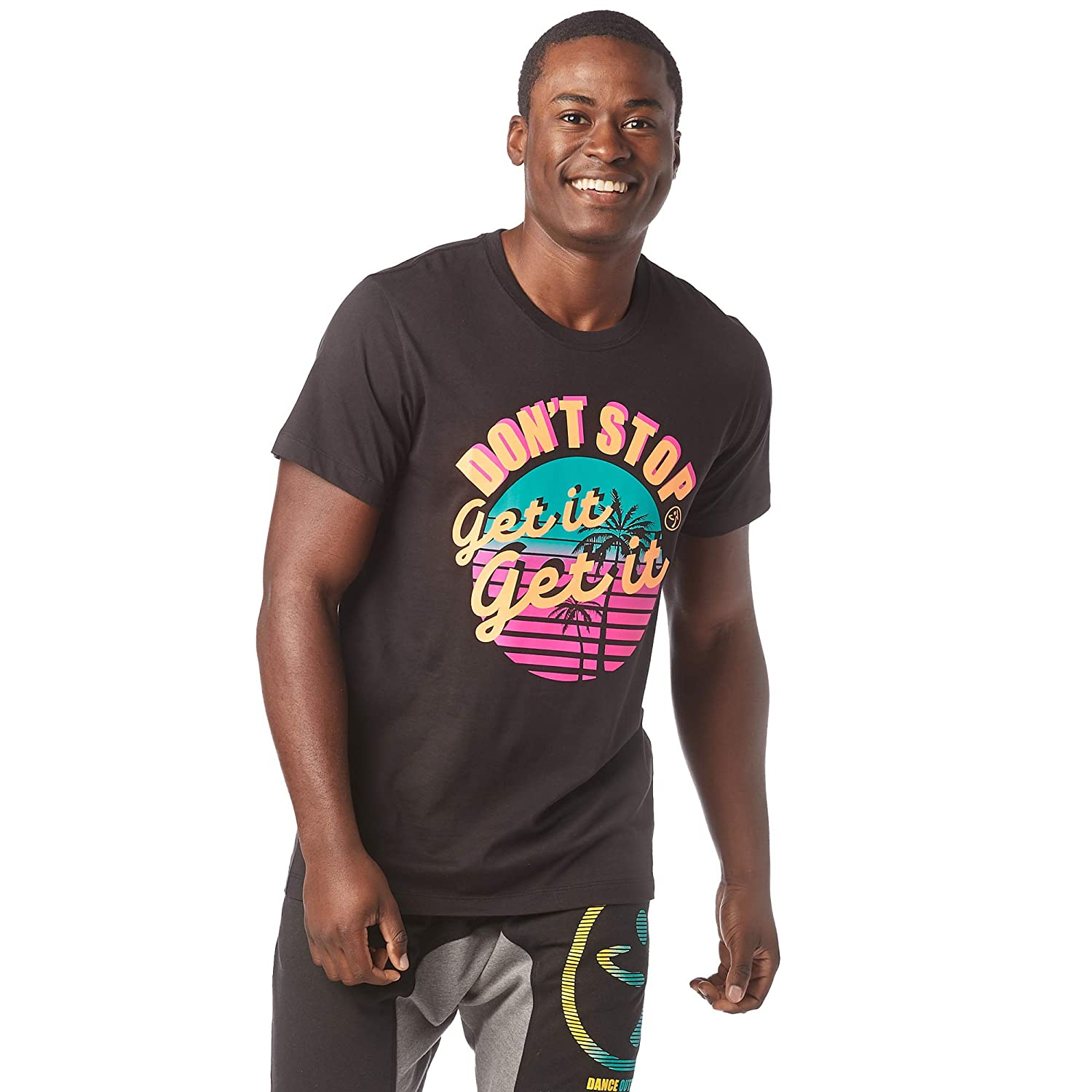 Zumba Breathable Activewear Fitness Gym Unisex Workout Tee with Fashion Print
