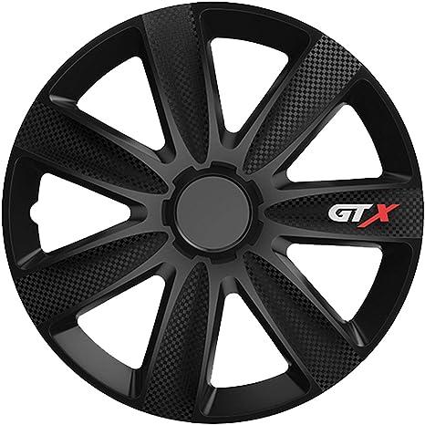 16 Zoll 40,64 cm Radzierblenden-Set Modesto in sportlicher 4-teilig schwarzer Carbon-Optik 4er Set