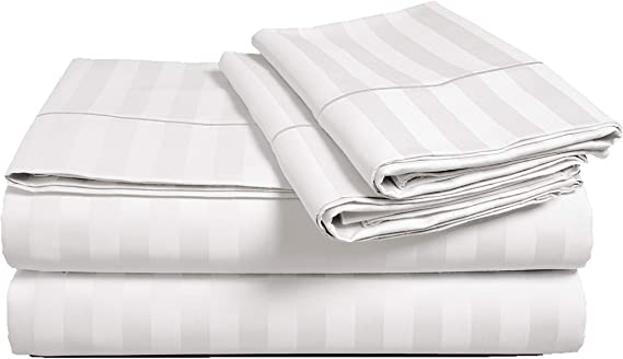 CHATEAU Home Collection Juego de sábanas de 500 hilos, 100 ...