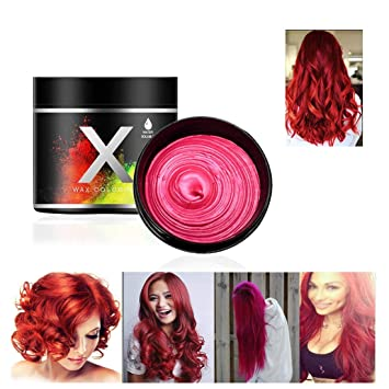 Red Hair Color Wax One Time Temporary Modeling Natural Color Hair Dye Wax Temporary Hairstyle