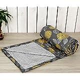 "Trance Home Linen 100% Cotton Single Dohar 56""X90"" (Grey Yellow Abstract)"