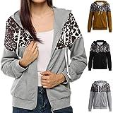 MEIbax Moda mujer abrigos y tops calientes Chaqueta con Estampado de Leopardo de otoño…