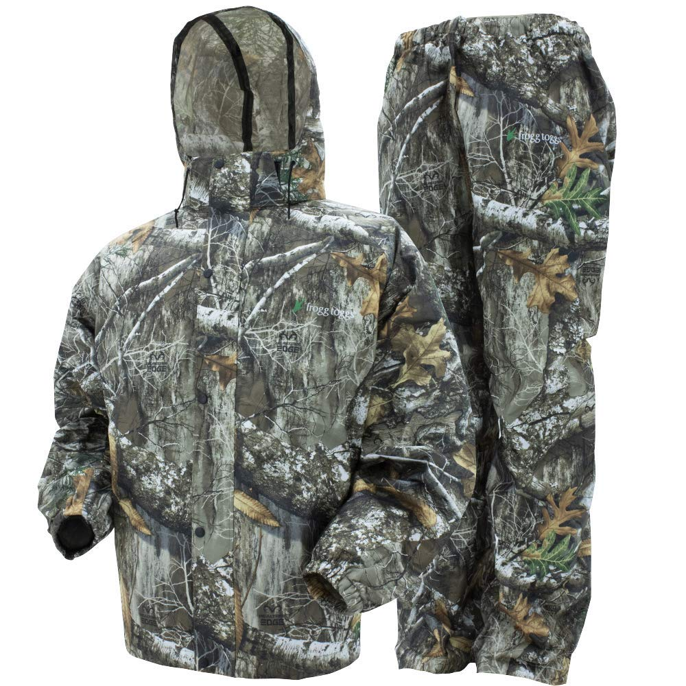 Frogg Toggs All Sport Rain Suit, Realtree Edge, Size XXX-Large (AS1310-583X) by Frogg Toggs