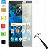 Owbb Vetro Temperato Pellicola Protettiva Protezione Per Alcatel Pop 4 Plus (5.5Pollici) Smartphone Trasparenza ad alta definizione, Facile da installare