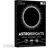 """Neenah Paper Astrobrights Colored Cardstock, 8.5"""" x 11"""", 65 lb/176 gsm, Eclipse Black, 100 Sheets (22024-01)"""