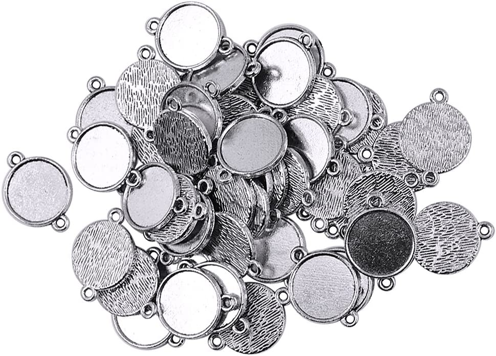 Base de colgar en blanco adecuado para colocar joyas de piedras preciosas redondas imitación de diamantes de bricolaje