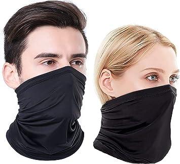 Halloween Smile Neck Gaiter Headwear Balaclava Black Bandanas For Dust UV Sun