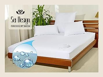 Sei Design Elite funda de colchón impermeable y transpirable con tela de toalla, impermeable al agua ...