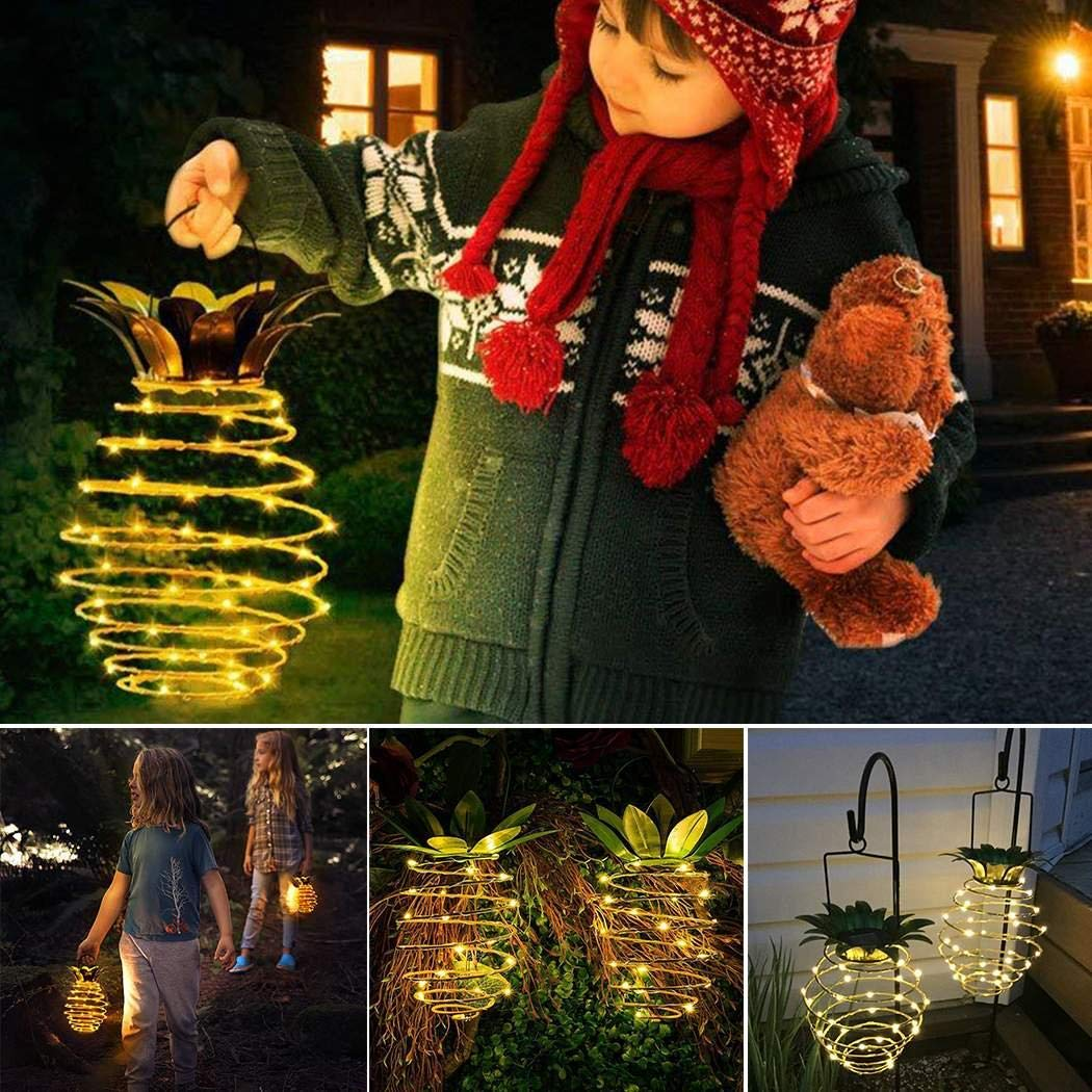 amiubo Portable Waterproof Hanging Solar LED Light Outdoor Light Outdoor String Lights