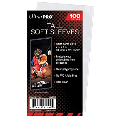 Ultra Pro Card Sleeve - Tall (100 per Pack): Sports & Outdoors