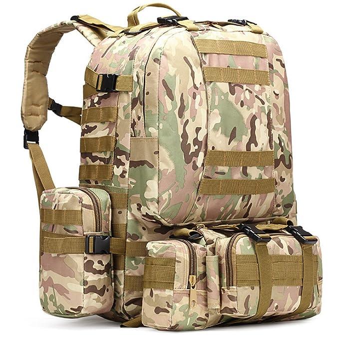 Militärtarnung Wandern Taktische Tasche Bergsteigen Rucksack Großes Portfolio Camping Reisetaschen Oxford-Tuch Im Freien Rucksack. Multicolor,H-30*22*50cm Yy.f handbags