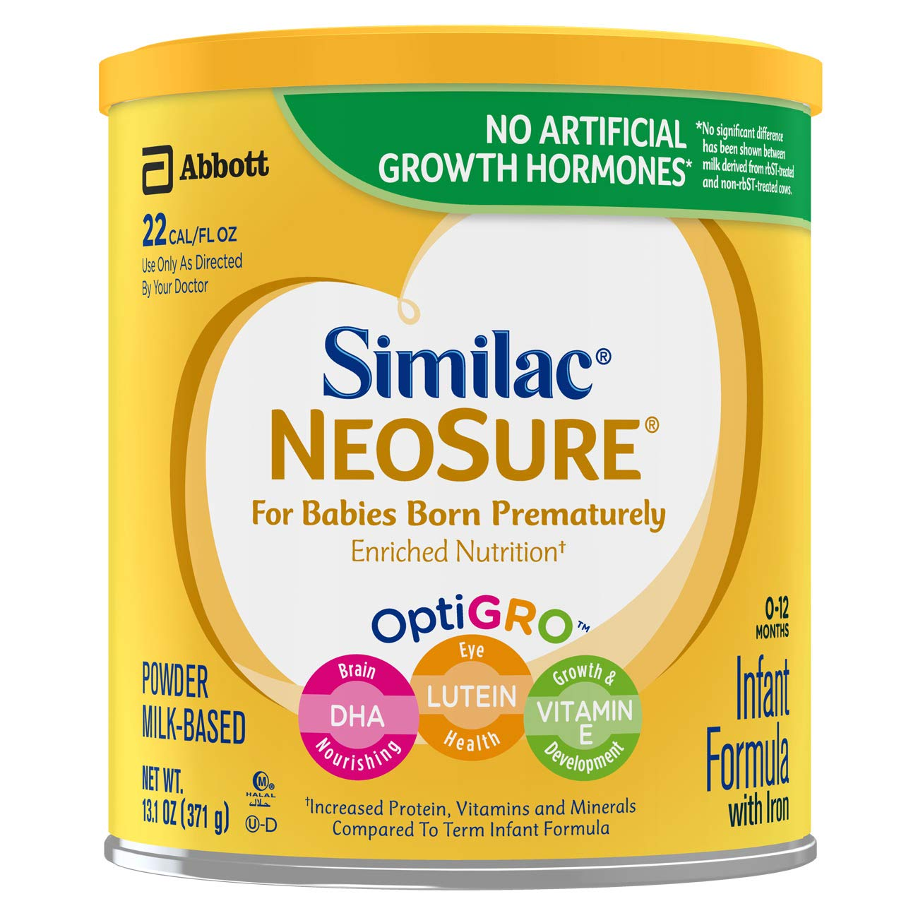 Similac NeoSure Infant Formula with Iron, For Babies Born Prematurely, Powder, 13.1 ounces (Pack of 6) 070074574301