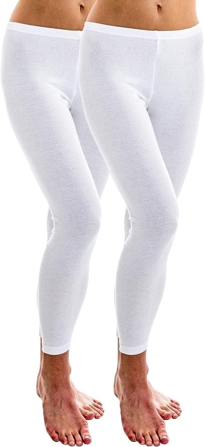 HERMKO 1720 2 leggings de mujer 100% algodón orgánico ...