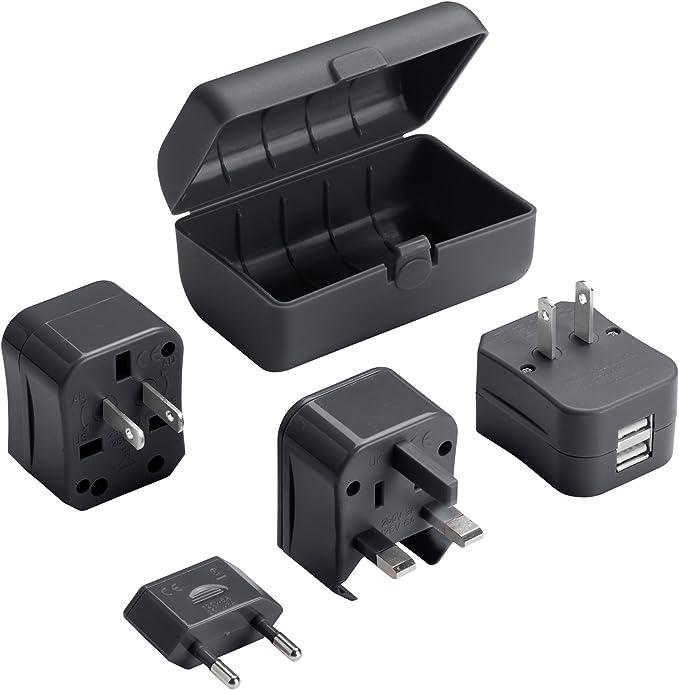 Pack de 2-BG 13 A Switched Double Socket avec chargeur USB 3.1 A Brossé Acier