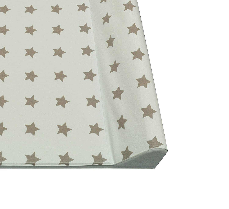 Cambiador de pañales con dos cuñas 50x70 cm o soft 75 x 85cm, estrellas, de color azul: Amazon.es: Bebé