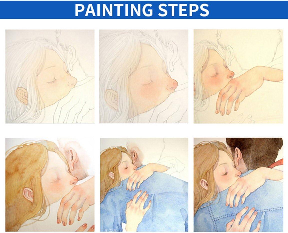 Peinture /à laquarelle solide Etui de transport peint /à la main pour les enfants avec un stylo