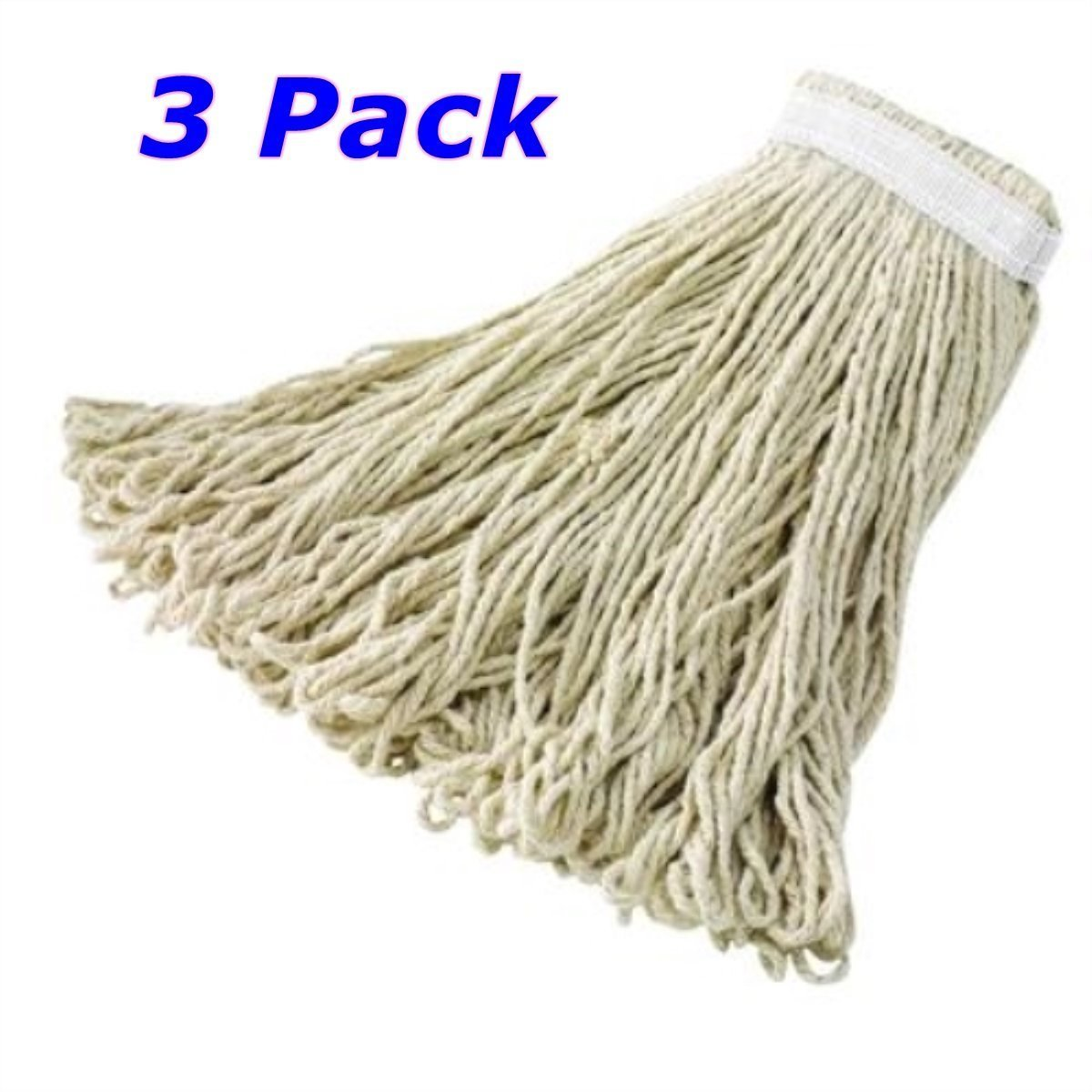 A World Of Deals Commercial Cut-end Cotton Mop, 12 oz, 3 Piece by A World Of Deals