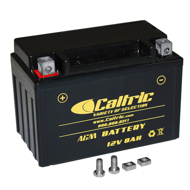 amazon com: caltric agm battery compatible with honda trx250ex trx-250ex  sportrax 250 2001-2008: automotive