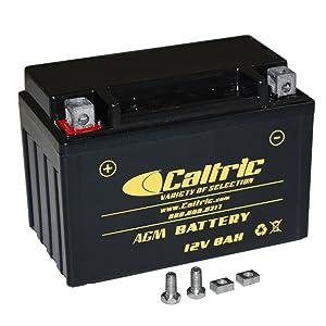 Caltric Agm Battery for Kawasaki Ninja 600 Zx-6R Zx600P Zx600R 2007-2012