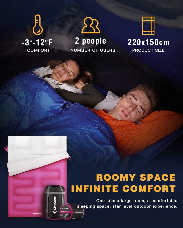 KingCamp Schlafsack Ultraleicht Schlafsack Komfortbel Sommerschlafsack D/ünner Deckenschlafsack f/ür Camping Wandern Zuhause Rucksackreisen 1 kg 180 /× 75 cm