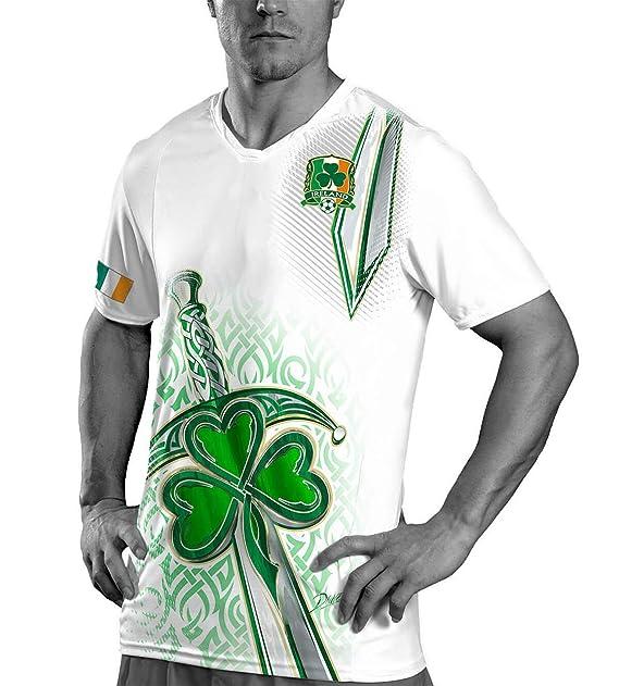 huge discount a56cf 72111 Amazon.com: Ireland Soccer Jersey - Mens Custom 2018 World ...
