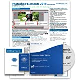 Learn Adobe Photoshop Elements 2019 DELUXE Training Tutorial Course- DVD-ROM, Online Access, Manual, Exam, Certificate of Completion and Quick Reference Guide