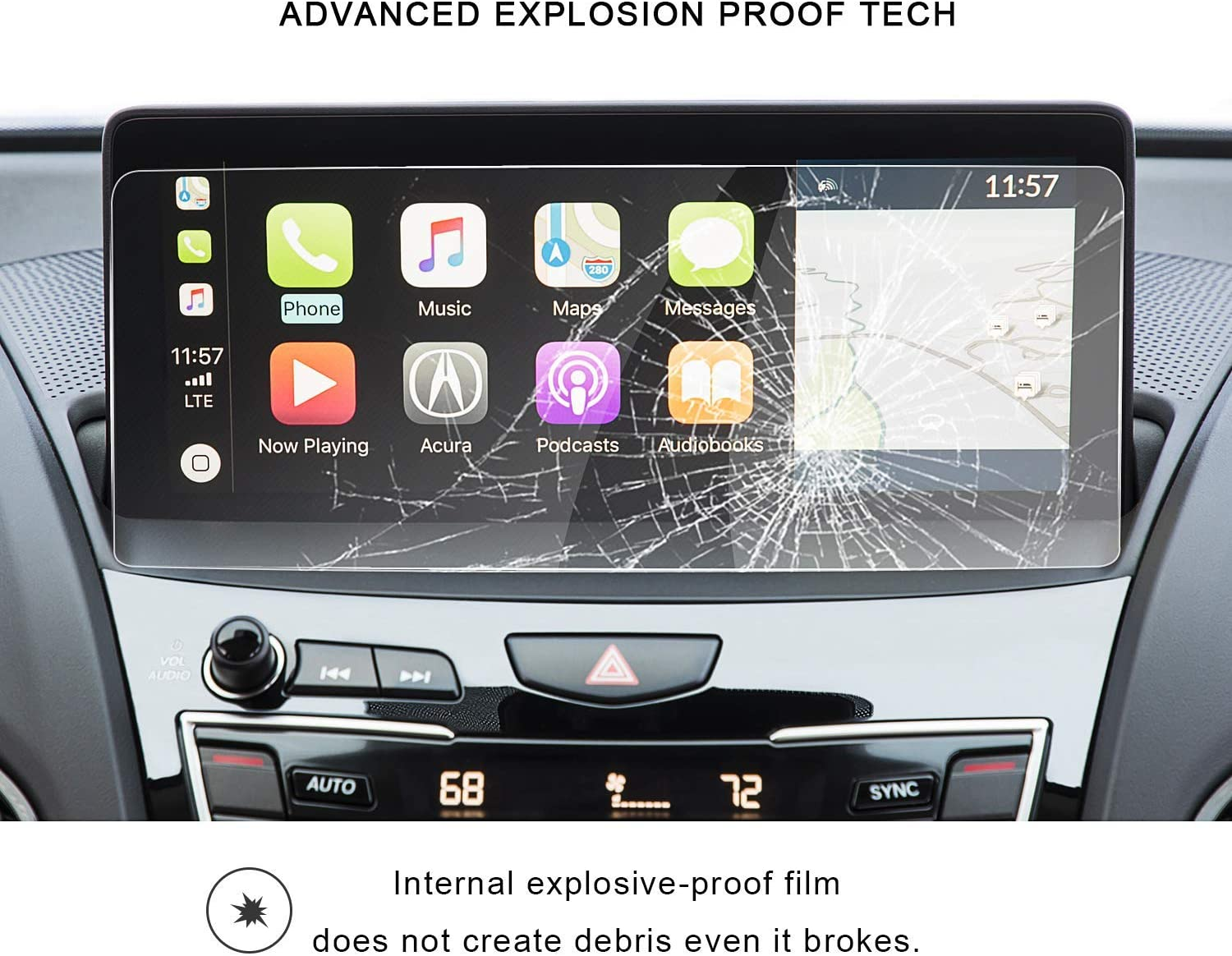 Acuralink 10.2 Inch Touch Screen,Anti Scratch,Shock-Resistant,Premium Tempered Glass Wonderfulhz Screen Protector Compatible with 2020 2021 Acura RDX