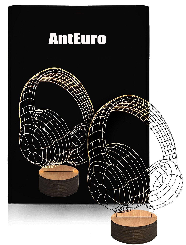 LED 3D Lamp Hand Victory AntEuro 3D Touch Tisch Schreibtisch Lampe USB Bedside Licht
