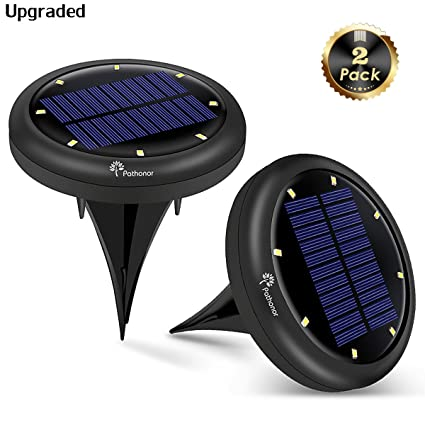 Solar In-ground Lights Outdoor Upgraded PATHONOR 8 LED 2 Pack Warm White Pathway  sc 1 st  Amazon.com & Amazon.com: Solar In-ground Lights Outdoor Upgraded PATHONOR 8 LED ...