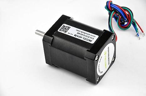 Motor paso a paso Nema 17, motor bipolar con cable integrado de 30 ...