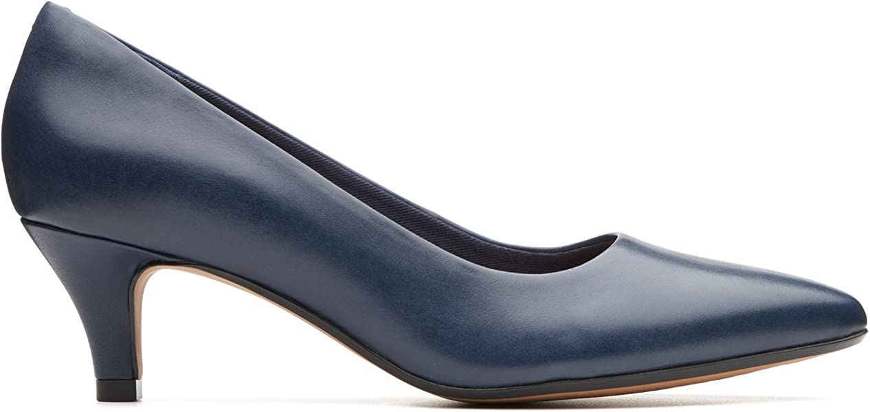 3356ef80e8a5 Clarks Linvale Jerica Leather Shoes in Navy Wide Fit Size 3  Amazon ...
