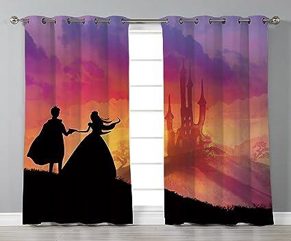 Amazoncom Stylish Window Curtainsfantasysilhouette Of Prince And