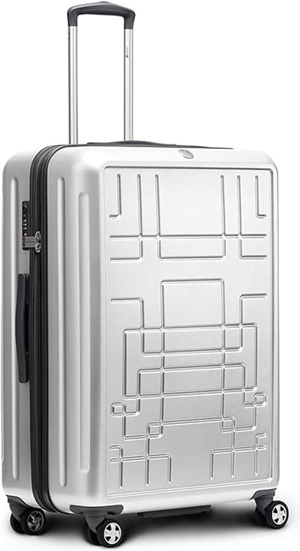 Ciak Roncato Highlight - Maleta con ruedas Diseño – XL – 76 x 51 x 32 cm – 118 L – 4 ruedas dobles, candado TSA disponible, en 6 colores plata