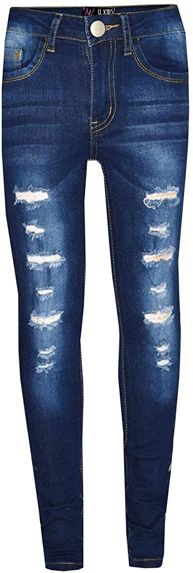 Girls Skinny Leg Denim Jeans Tapered Ages Years Green Wash