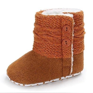 ce9b819a53c1 Saingace Newborn Baby Girls Boys Soft Booties Snow Boots Warming ...