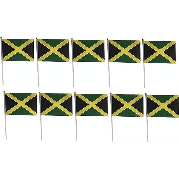 St Lucia Medium Hand Held Flag 23cm x 15cm