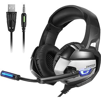 Onikuma Auriculares para juegos de PC para PS4 Nuevo XBOX One 3.5mm con cable Over