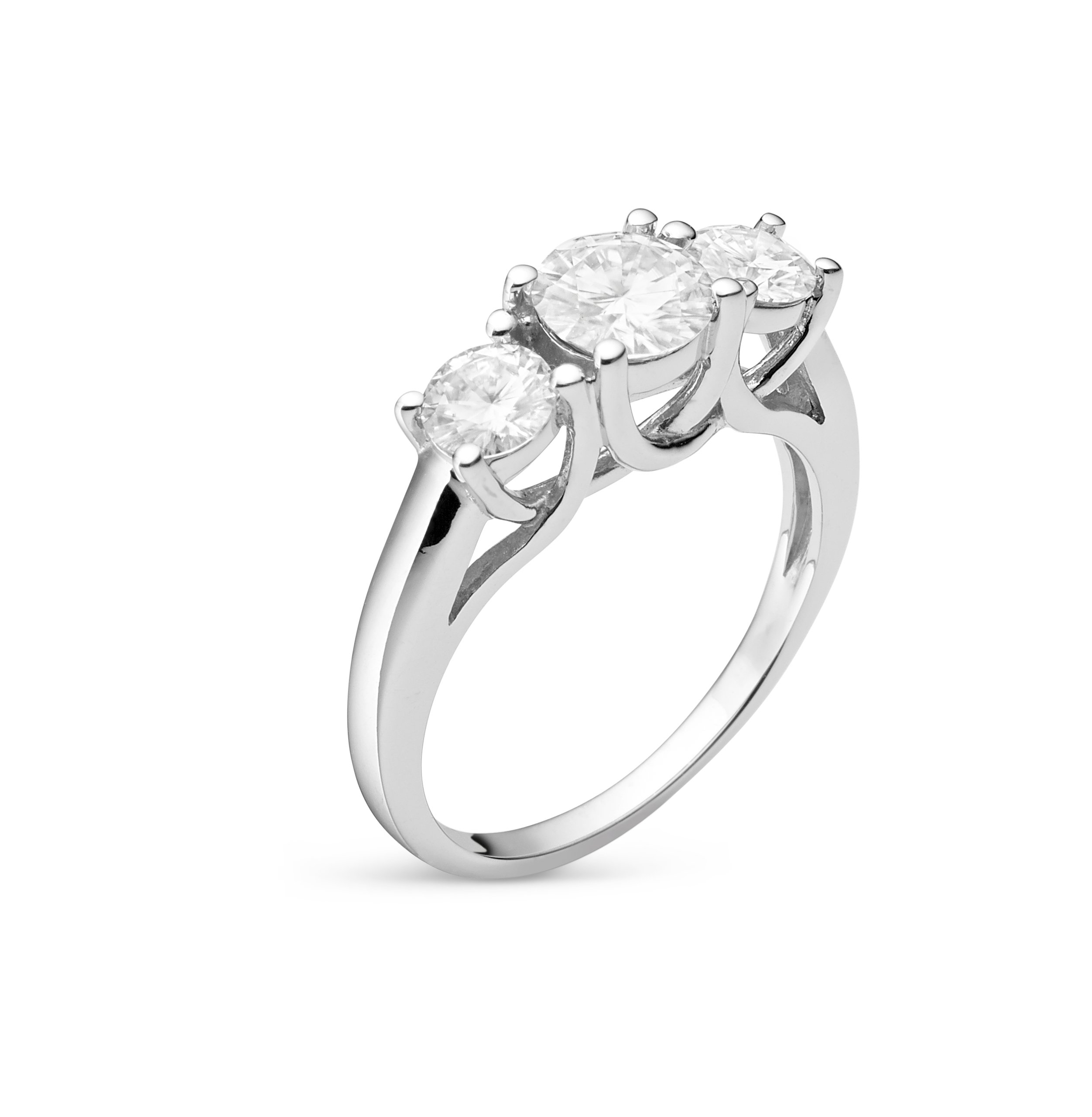 Forever Classic Round Cut 6.0mm Moissanite Engagement Ring-size 6, 1.12cttw DEW By Charles & Colvard