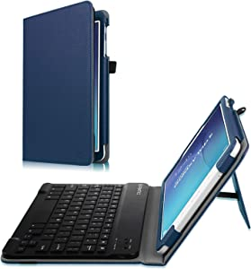Fintie Keyboard Case for Samsung Galaxy Tab E 9.6 - Slim Fit PU Leather Stand Cover with Premium Quality [All-ABS Hard Material] Removable Wireless [Long Life Battery] Bluetooth Keyboard, Navy Blue