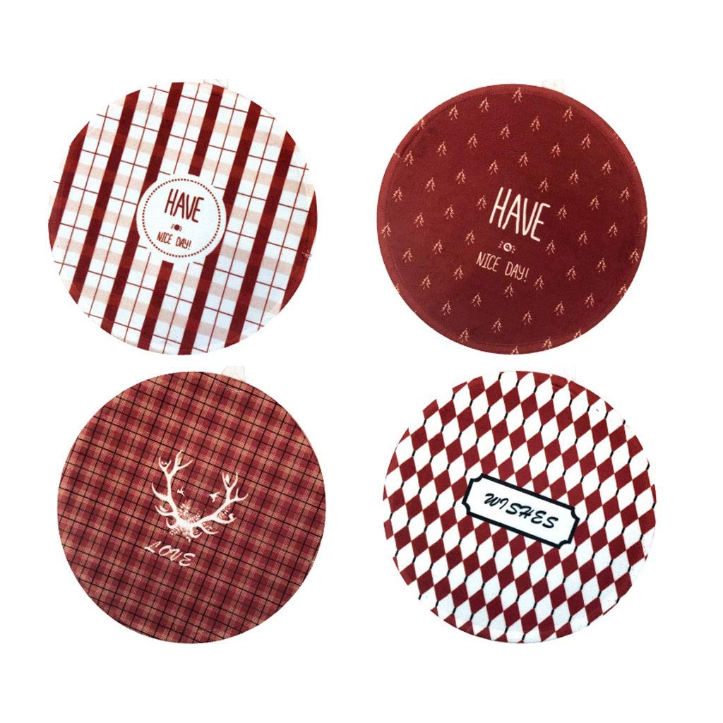 Coasters with Holder Nordic Round Coaster Placemat Insulation Pad Kitchen Anti-hot Pad Table Mat Fabric Coaster Cup Holder Coasters by Zunruishop