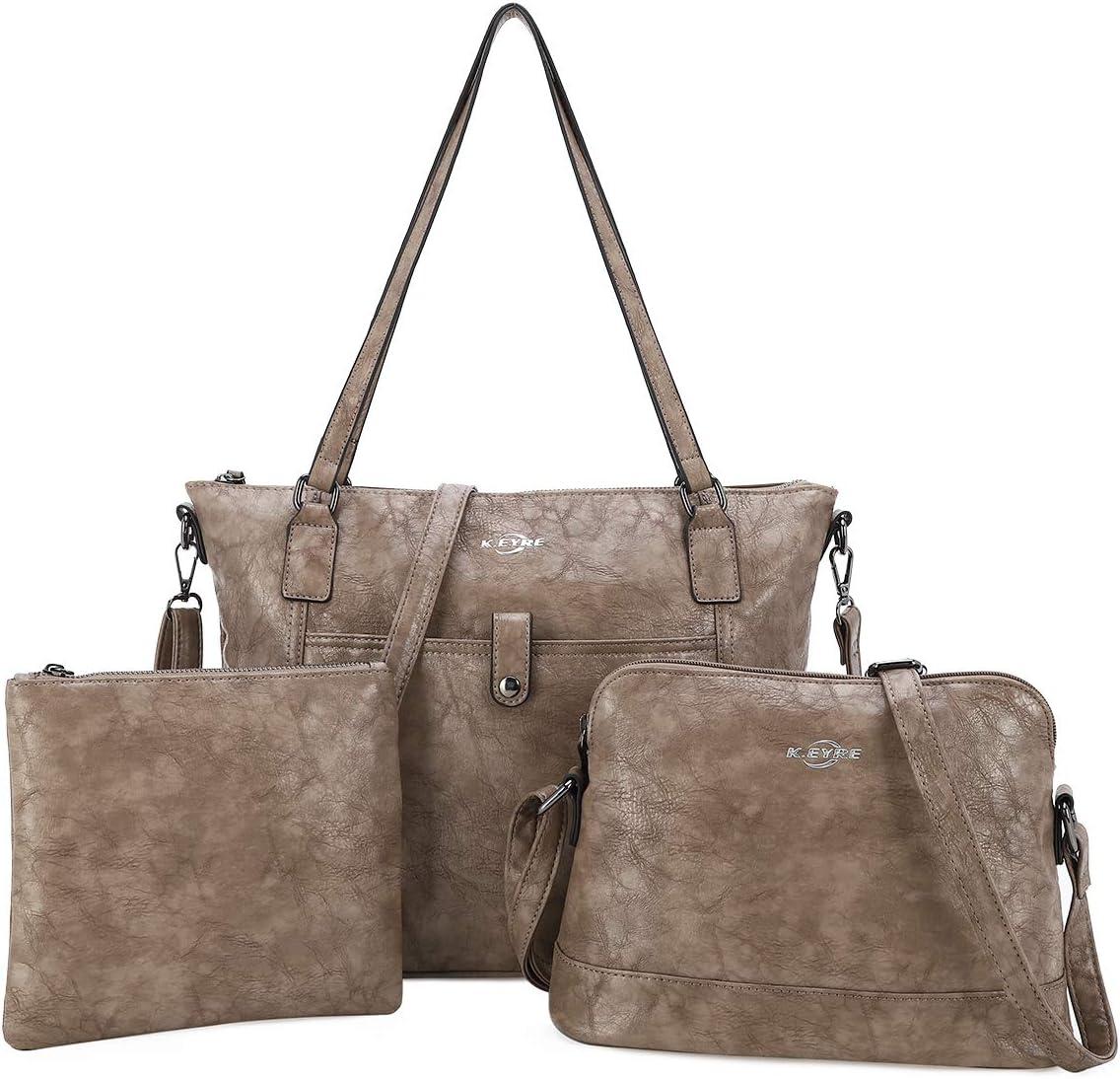 Women Shoulder Handbag Purse Top-Handle Hobo Roomy Casua Ladies' Shoulder Bag Fashion PU Tote Satchel Bag for Women (1A-KL2226#687#13KHAKI)