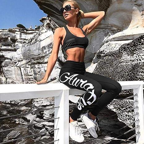 ... para Mujeres Impresión de Cartas, Moda Entrenamiento Leggings Fitness Sports Gym Running Pantalones Deportivo Absolute: Amazon.es: Ropa y accesorios